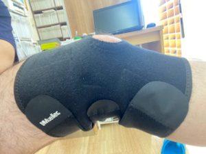 膝半月板損傷のミドルサポート・サポーター固定の画像